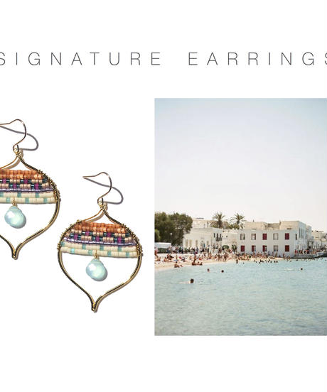 Kui Co.  Signature Earrings シーブルー