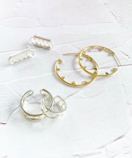 DoubleMoon Jewelry | jaws風フープピアス