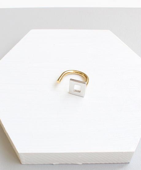 plus.jewel | square & line ring
