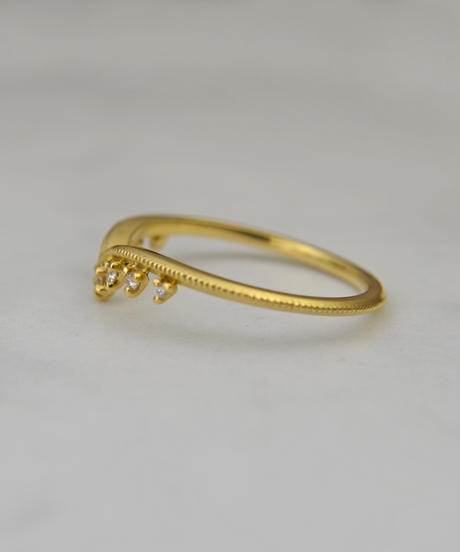 cocoron | Gold diamondring
