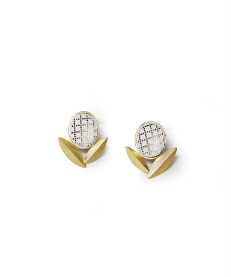 jaren | mesh earring_olive