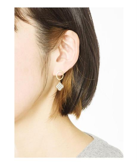 jaren | mesh earring_flower