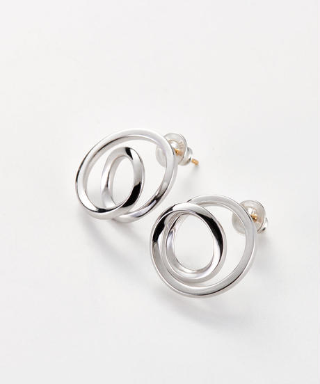 MASANA | encounter pierced earrings (silver)
