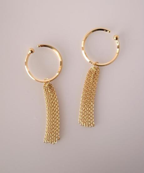 Marzo   fringe earrcuff  (gold color)