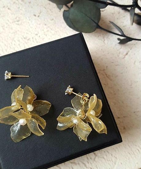 SA:RA | clear flower CZ ピアス/イヤリング