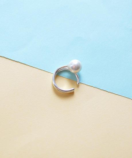 Rough'N'tumble | Stone ear cuff pearl 8mm