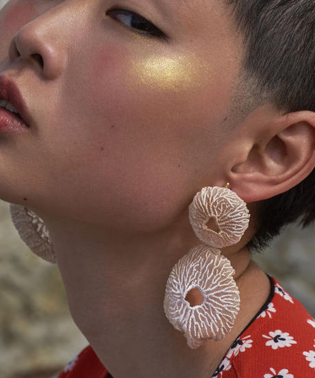 ARRO | coral egg earring