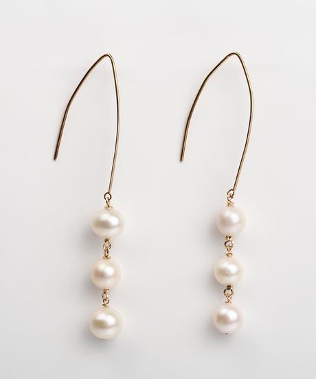 ColouR | pearl link pierce  (short)