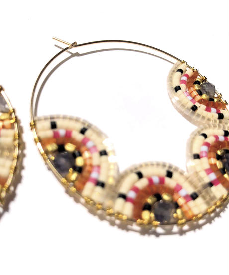 Kui Co.| Signature Large Hoop ピンク