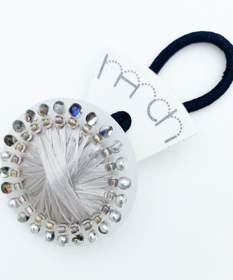 hArch |  hair tie  milky White × silver