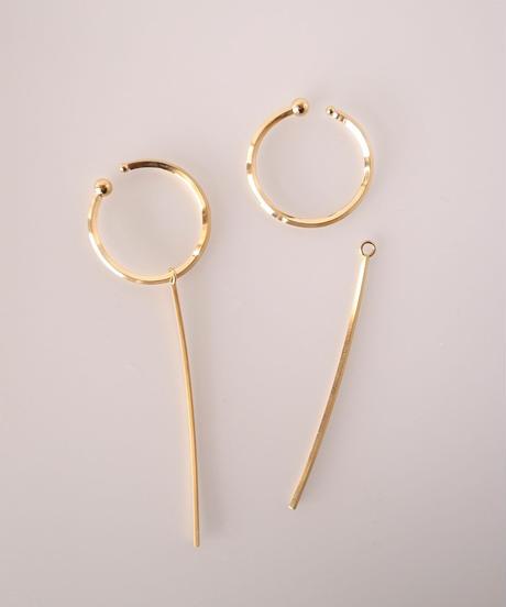 Marzo | Line earrcuff (gold color)