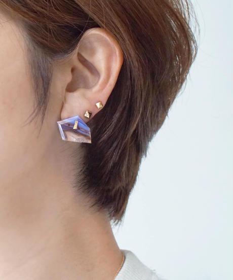 Shelby | DISK AGATEPierced Earring stud