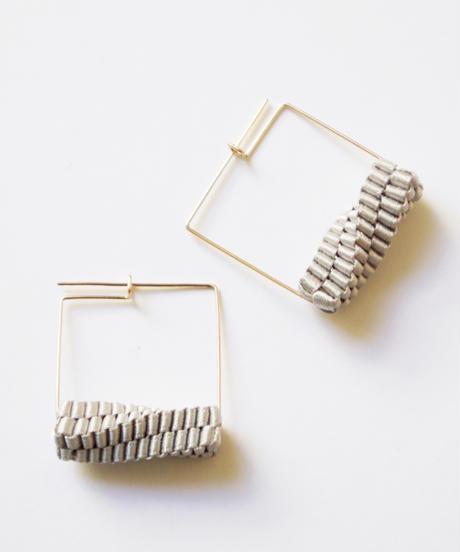 CHIKAKO YAJIMA | Geometry Square Earrings