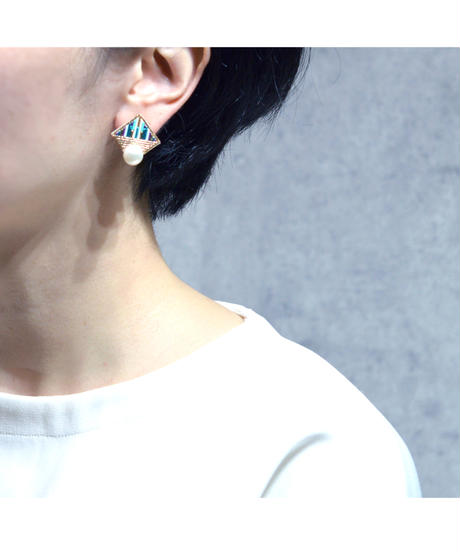 RITUAL | Square Pearl earring | mint