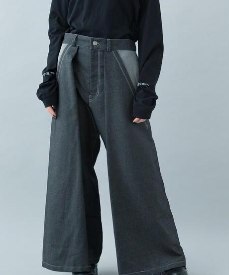 【21-22AW collection受注予約商品】神主ジーンズ ( indigo , black )