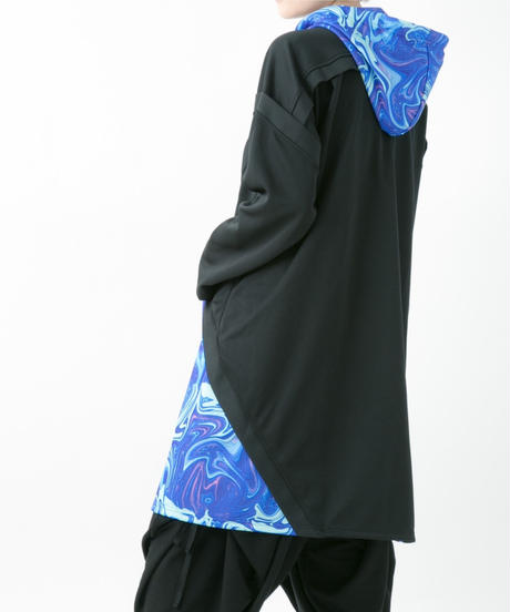 Marble parka (BLACK , RED , BLUE)