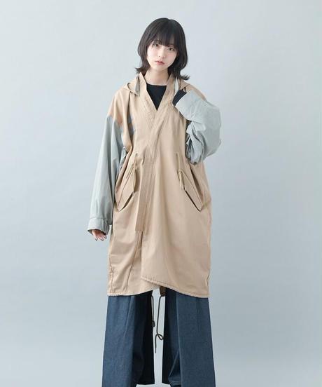 【21-22AW collection受注予約商品】キモノモッズコート (beige)