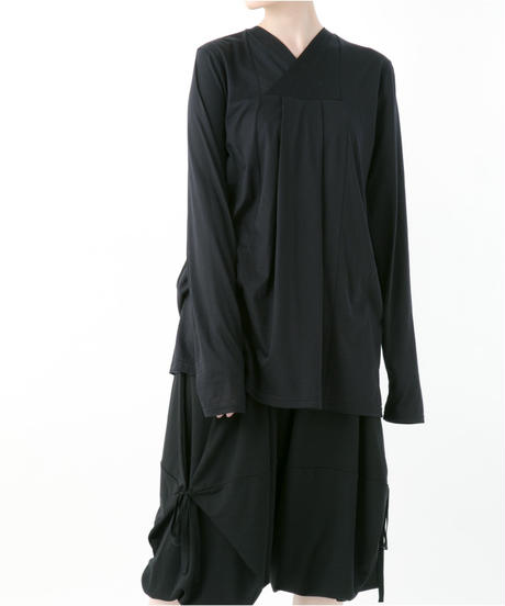 《BLACK by -niitu-》Long sleeve cutsew (BLACK)