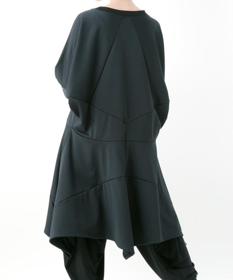 《BLACK by -niitu-》Stretch punch one-piece (BLACK)