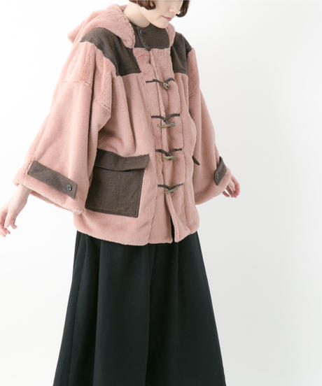 Duffle fur coat (WHITE , PINK , NAVY)