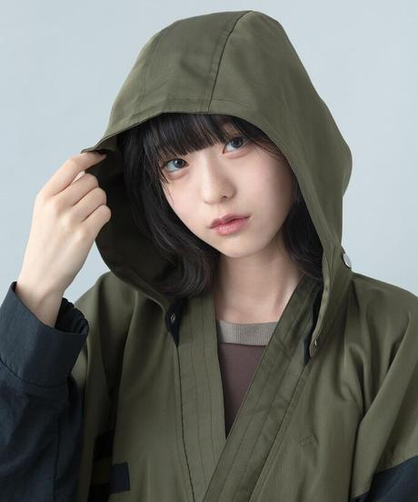 【21-22AW collection受注予約商品】キモノモッズコート (khaki)