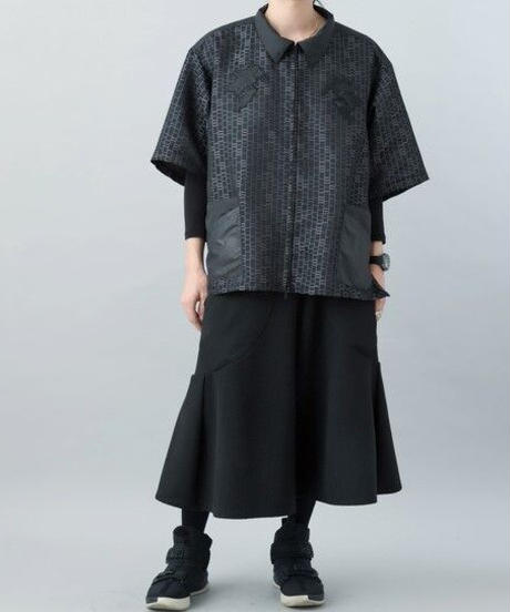 【21SS 受注予約商品】あみだシャツEX ( charcoal )