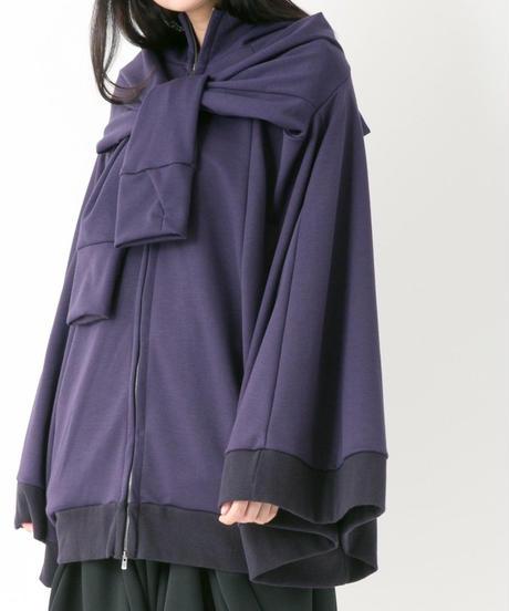イカ頭巾パーカー (VIOLET , BLACK)