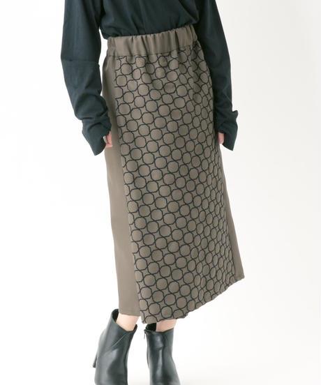 刺繍スカート (KHAKI , BLACK)