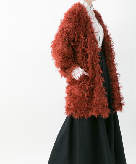 Fringe cardigan (RED , BLACK)
