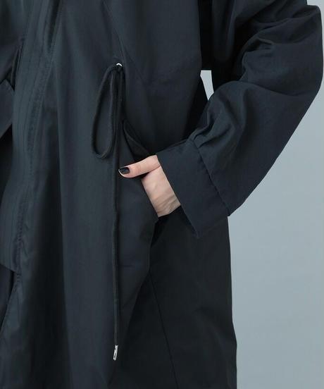 【21-22AW collection受注予約商品】キモノモッズコート (black)