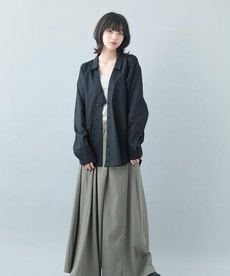 【21-22AW collection受注予約商品】キモノシャツ ( gray , black )
