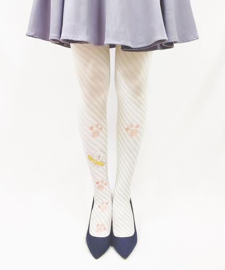 【キャラクター】ほわころくらぶ 8T-0106【ほわころストライプ】プリントタイツ