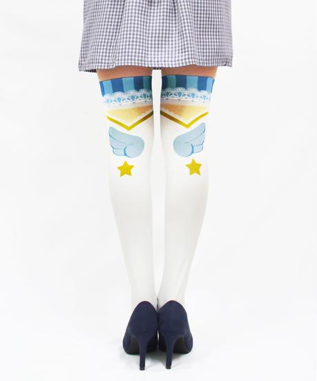 【復刻】MerryGORound OV-0152【魔法少女(水色)】オーバーニー