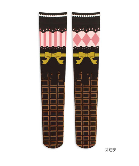 【復刻】MerryGORound OV-0159【チョコレート(ミルク)】オーバーニー