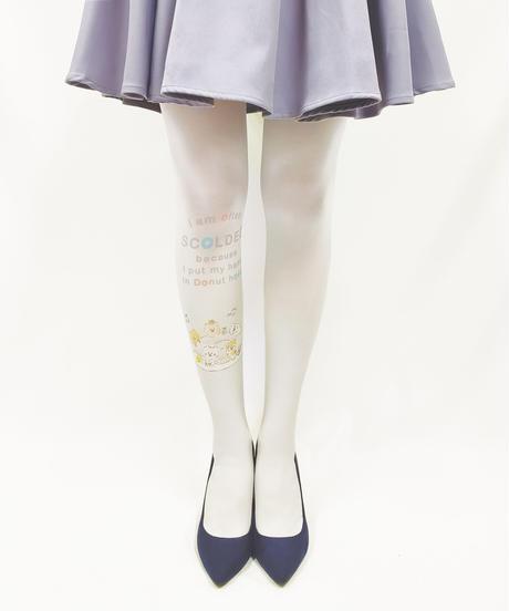 【キャラクター】ほわころくらぶ 8T-0105【ほわころグレー】プリントタイツ