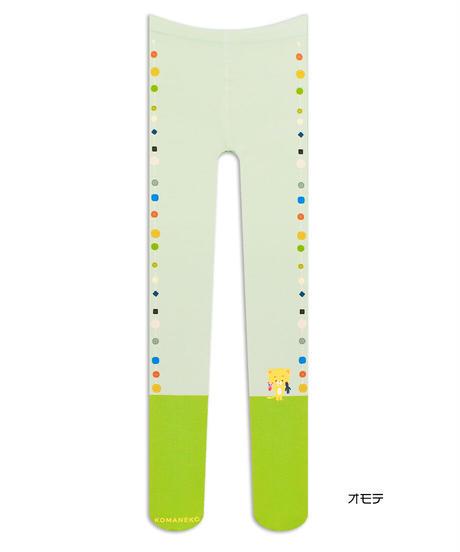 【キャラクター】こまねこ 8T-0186【いろいろボタン】プリントタイツ