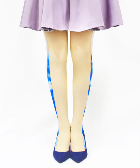【オリジナル】8T-0193【私乃世界-青空】タイツ