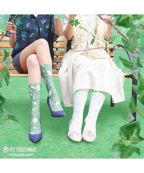 【キャラクター】カピバラさん CS-0098【葉と実】プリントクルーソックス