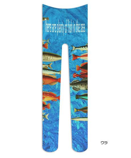 【オリジナル】8T-0076【FISHES】タイツ