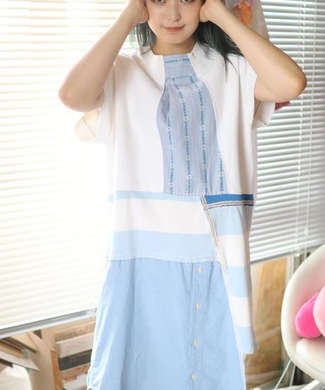 """入道雲"" Cumulonimbus sky Dress, rebuild by vintages"