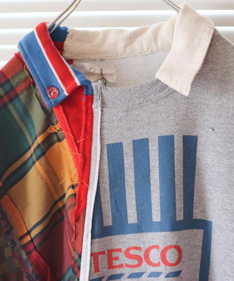 """""""愛の別名/レヴィ=ストロースへ捧ぐ"""" Bricolage long shirt dedicated to Levi Strauss, rebuild by vintages"""