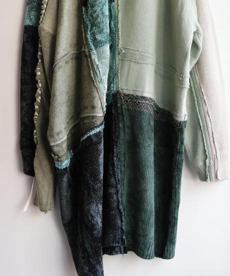 """""""乱反射する緑化地帯"""" Reflection Green Knit, reconstructed from knit vintages"""