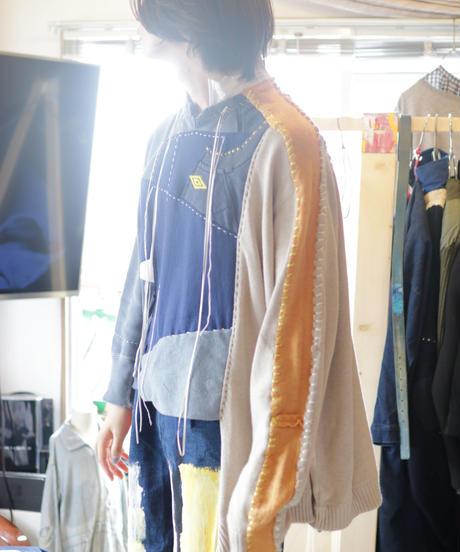 """""""虹の前の光"""" The light before rainbow pullover, reconstructed from mix vintages"""