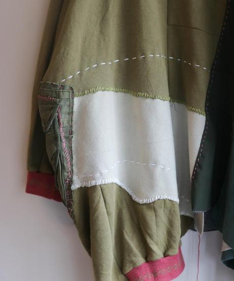 """""""柳と桃の不純異装交遊"""" Willow and peach pullover, reconstructed from mix vintages"""