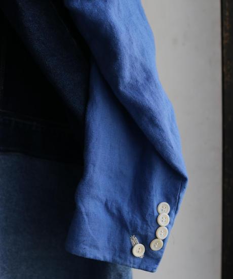 """""""まだ色彩になる前の三色"""" Signal Coat, reconstructed from denim and mix vintages"""