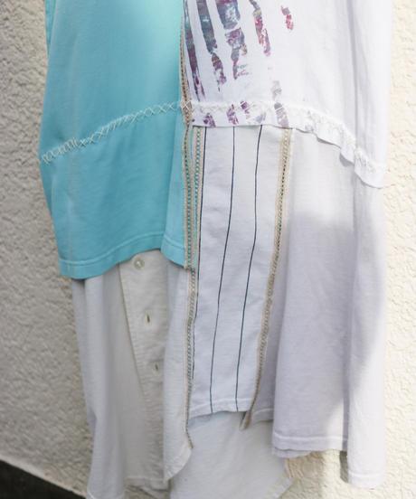 """""""水色の再会"""" Light blue reunion Dress One-piece, reconstructed from vintages"""
