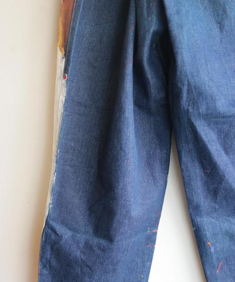 """""""デザイナーと画家"""" Drawing from Designer and painter,  Based on Vintage denim pants"""