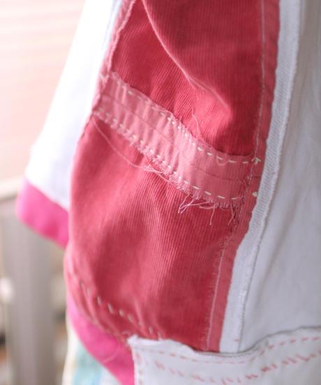 """""""少女の約束と記憶"""" Girl's promise and memory pink pullover, rebuild by vintages"""
