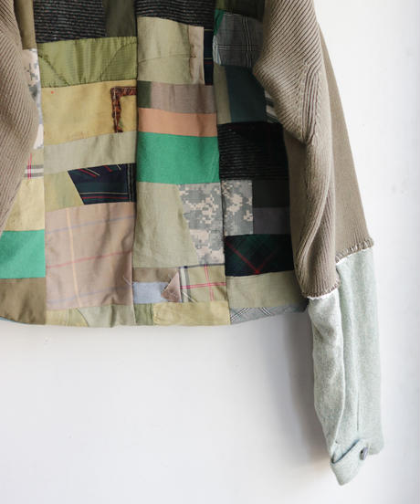 """""""非戦"""" Painted Military patchwork pullover, inspired by nowars"""