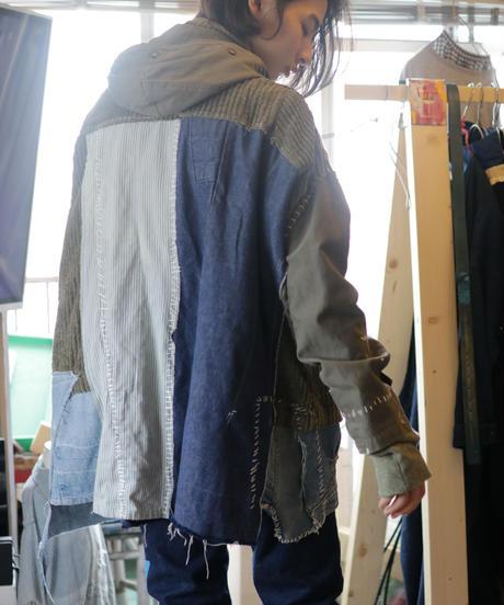 """""""荒くれ者の約束"""" Promise of the rough man coat jacket, reconstructed from mix vintages"""